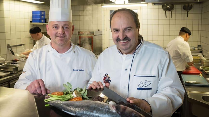 Johann Lafer in der Küche
